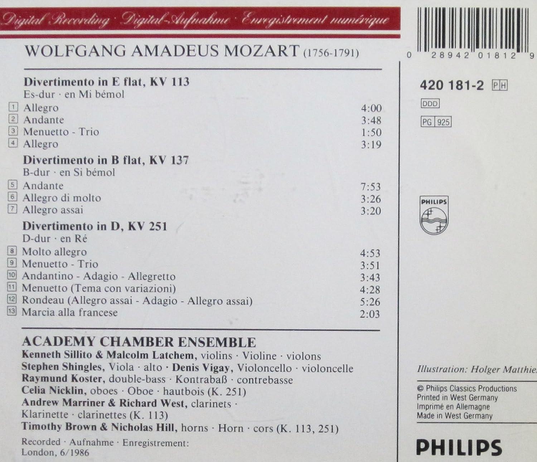Divertimento No. 1 Eb Major KV113 - Violin 2