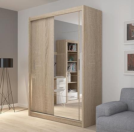 FADO Espejo 2 Puerta corredera Armario 150 cm de Ancho: Amazon.es: Hogar