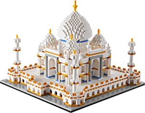 YUJNS Architecture Collection: Taj Mahal Model Kit and Gift for Kids and Adults ,Micro Block 3950 Pieces (with Color Package Box)