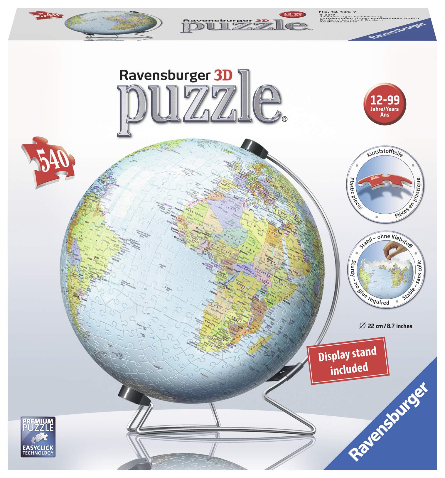 Ravensburger The Earth 540 Piece 3D Jigsaw Puzzle for Kids and Adults - Easy Click Technology Means Pieces Fit Together Perfectly by Ravensburger