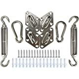 Sun Shade Sail Installation Stainless Steel Heavy Duty Hardware Kit of Rectangle Sails Anti-Rust for Outdoor.