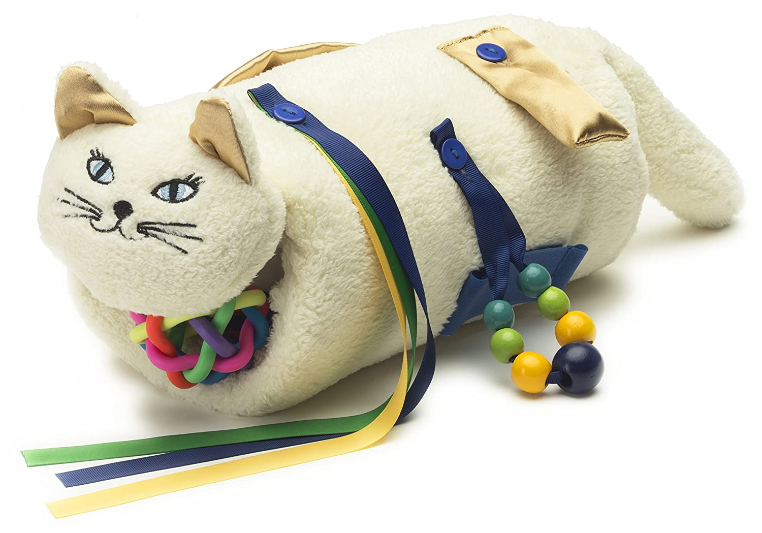 Q3 Enterprises Twiddle Cat (Cream) Activity/Comfort Aid