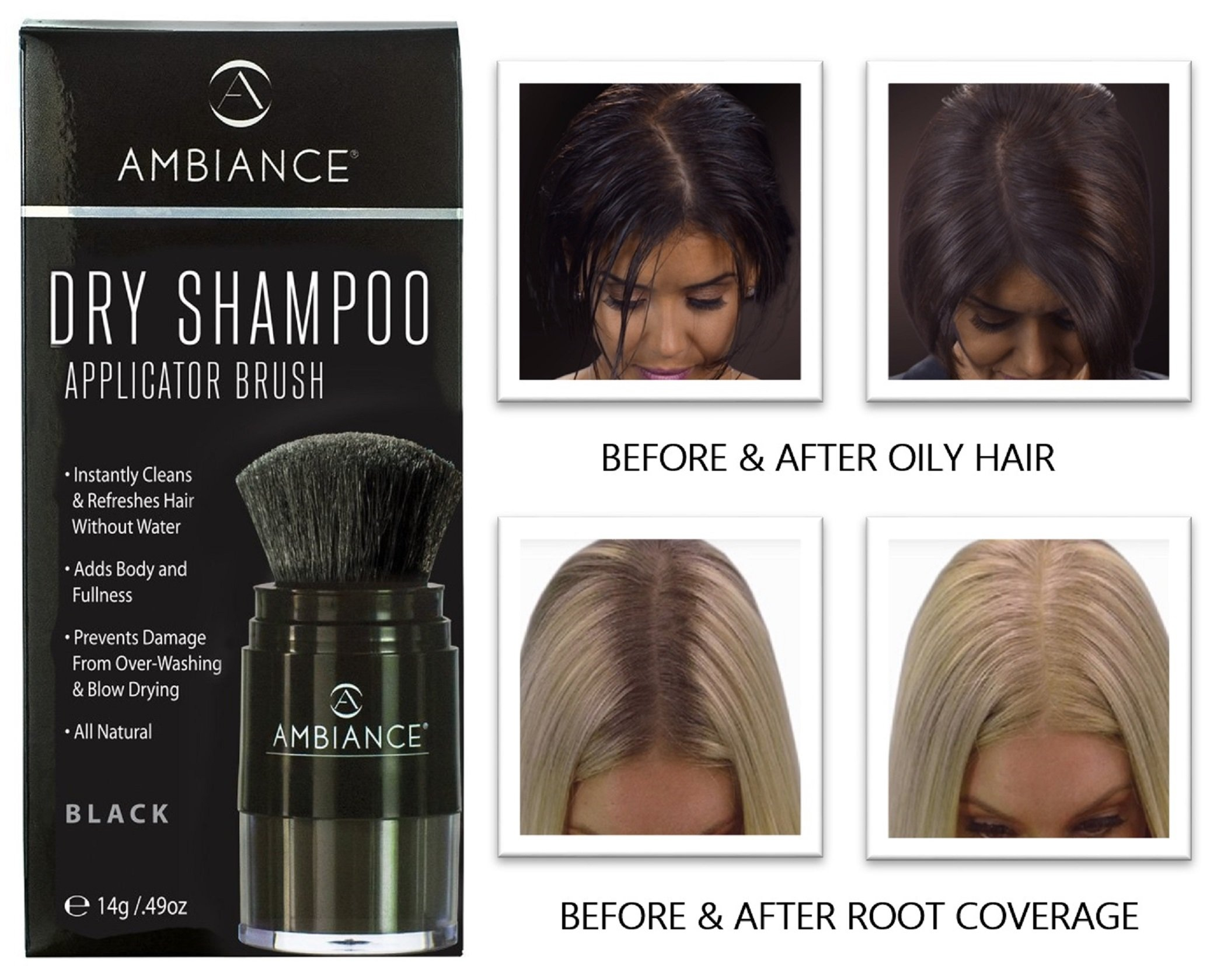 Amazon Ambiance Dry Shampoo Black Refreshes Conceals Roots