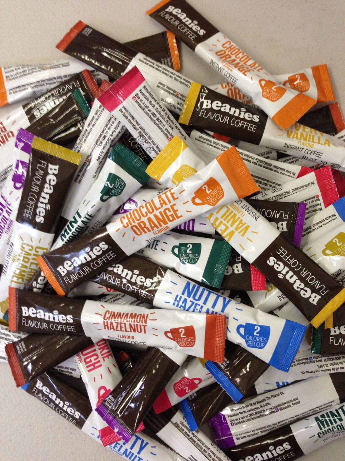 Beanies Flavoured Coffee Stick Sachet Variety Pack of 12