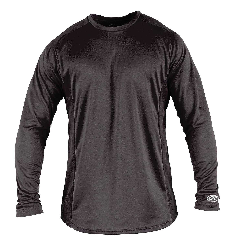 Rawlings Boy 's長袖ベースレイヤーシャツ B00D9PWXV2 S|グレー グレー S