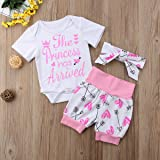 4 pcs Baby Girls Pants Set Newborn Infant Toddler