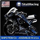 SkullRacing Gas Powered Mini Pocket Bike Motorcycle 50RR (Blue)