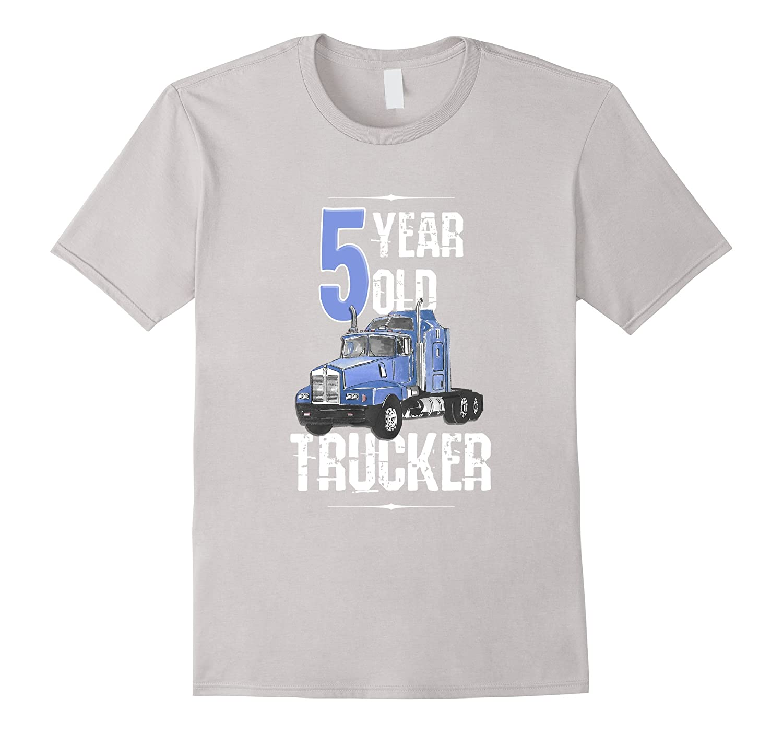 5th Birthday Shirt 5 Boy Year Old Kids Toddler Truck T CL