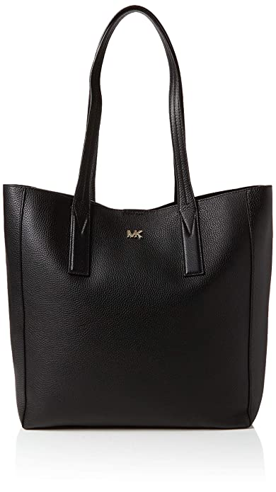 107eb5534 Michael Kors Junie Large Pebbled Leather Tote, Women's Black, 12.7 ...