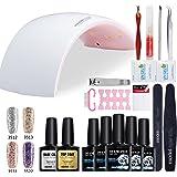 Modelones Sparkle Gel Nail Polish Starter Kit UV LED Nail Manicure At Home Nail Art Set ¡