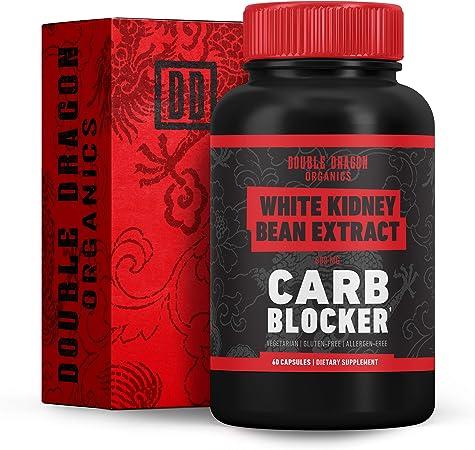 White Kidney Bean Extract - 100% Pure Carb Blocker - Keto Carb Blocker- Double Dragon Organics (60 Caps / 600MG)