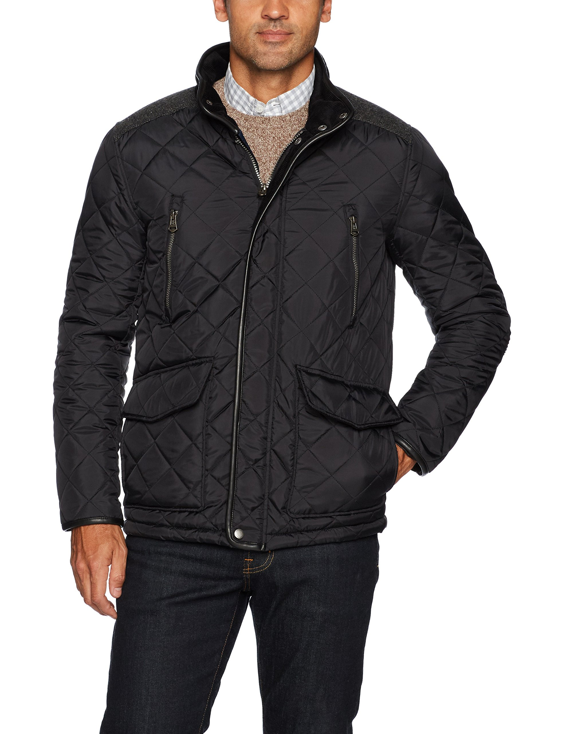Cole Haan Men's Quilted Jacket, Black, Small by Cole Haan