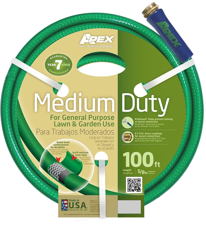 Amazon.com : Apex 8535 100 Medium Duty Garden Hose, 5/8 Inch By 100 Feet : Garden  Hose Reels : Garden U0026 Outdoor