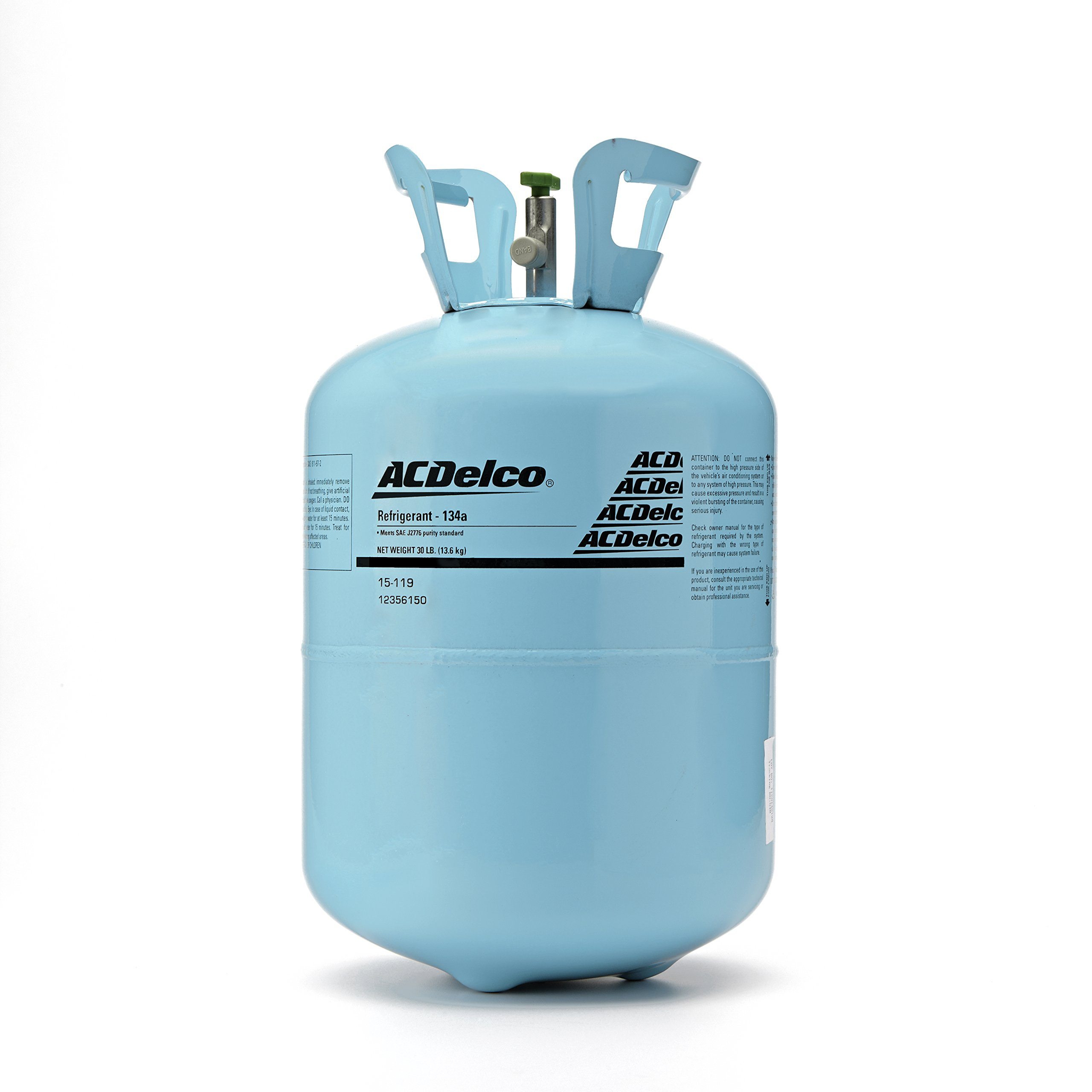 ACDelco 15-119 R134A Air Conditioning Refrigerant - 30 lb Cylinder
