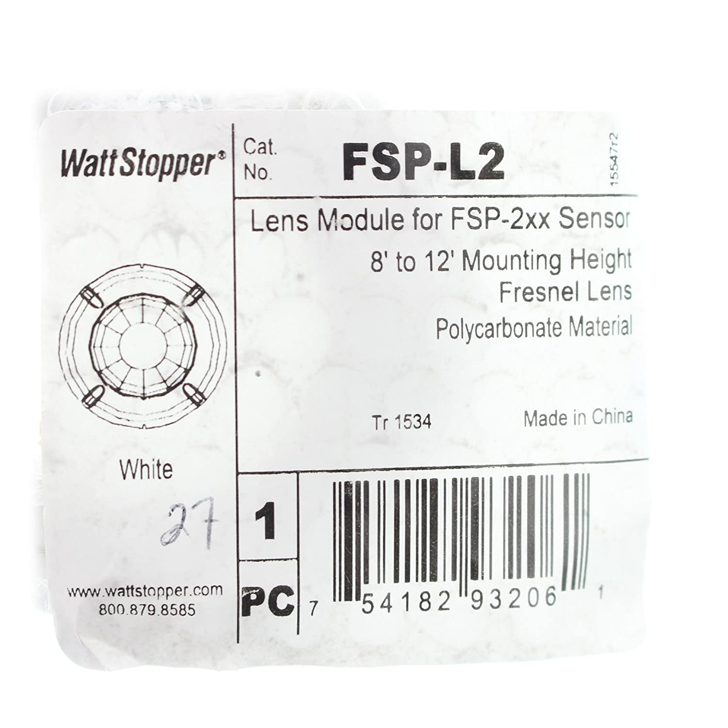 Amazon.com : Watt Stopper FSP-L2 Lens Module For Fsp-202 Fsp-212 Sensors, Fresnel Lens, White : Camera & Photo