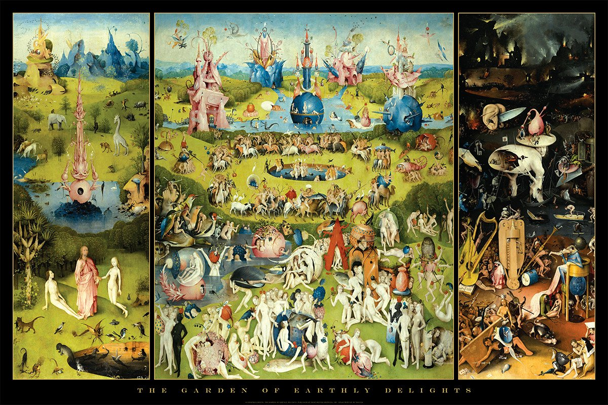 HUNTINGTON GRAPHICS Garden of Earthly Delights by Hieronymus Bosch - Art Poster 24 x 36 inches