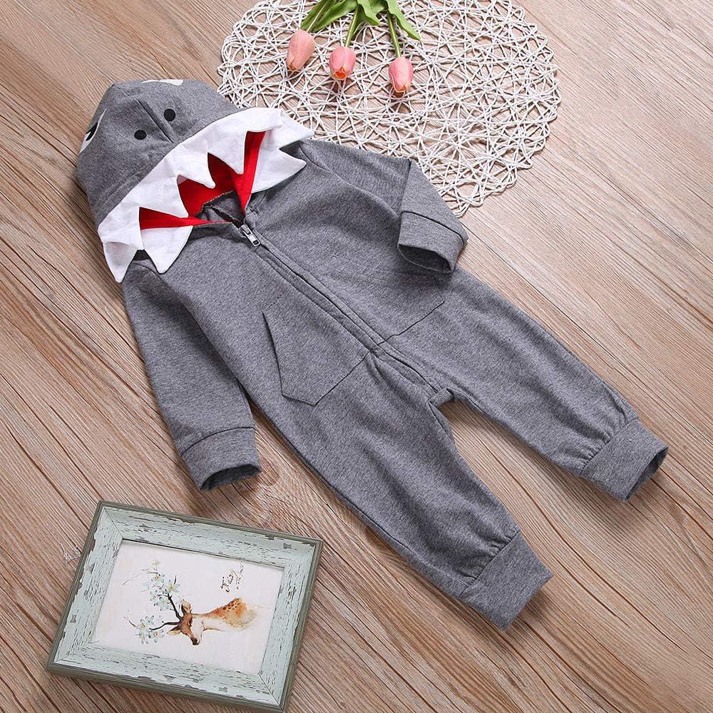 Longra/® Toddler Newborn Jumpsuit Infant Baby Boy Girl 3D Cartoon Hooded Romper Jumpsuit Zipper Clothes for 0-24 Months