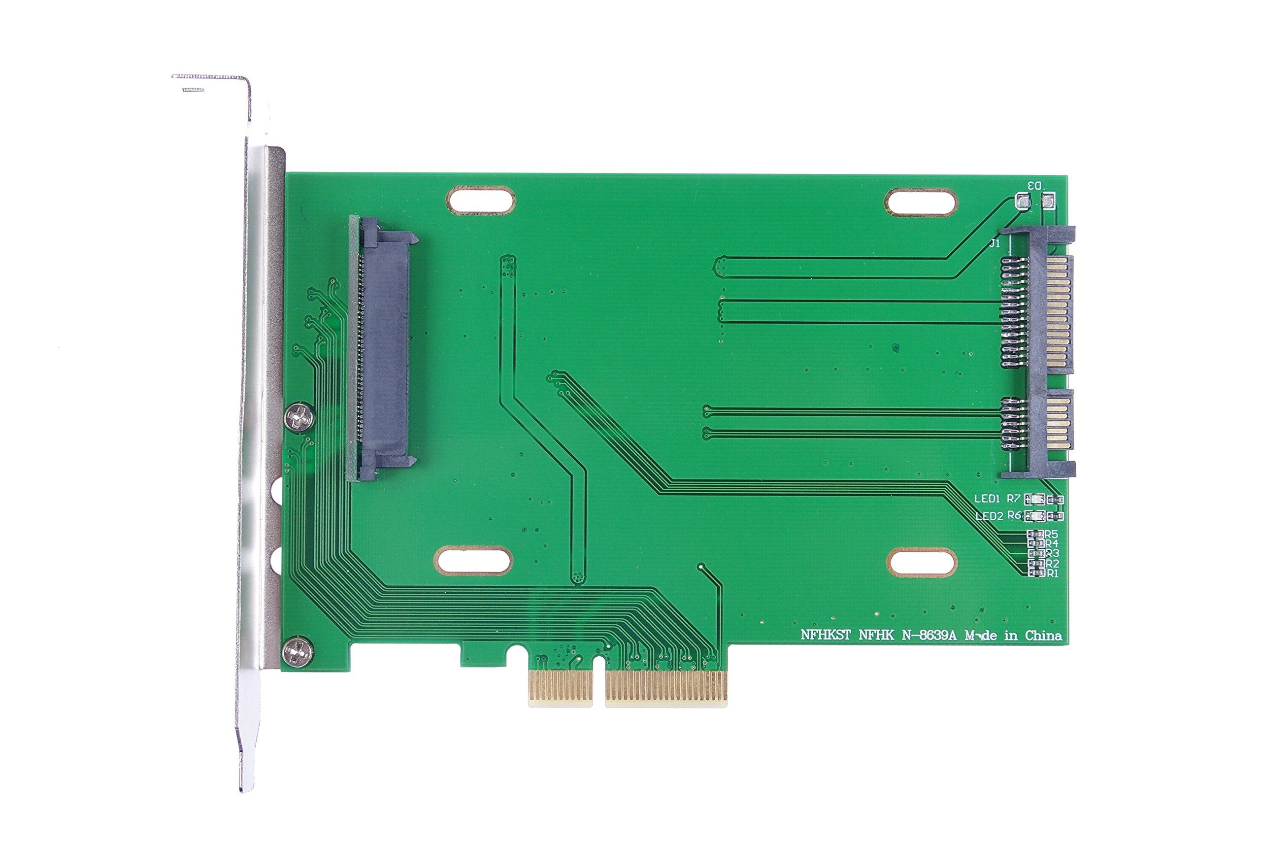KNACRO PCI-E 3.0 x4 Lane to U.2 U2 Kit SFF-8639 Host Adapter for Intel Motherboard & 750 NVMe PCIe SSD