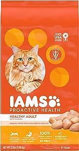 Iams Proactive Health Adult Dry Cat Food Chicken & Salmon Recipes