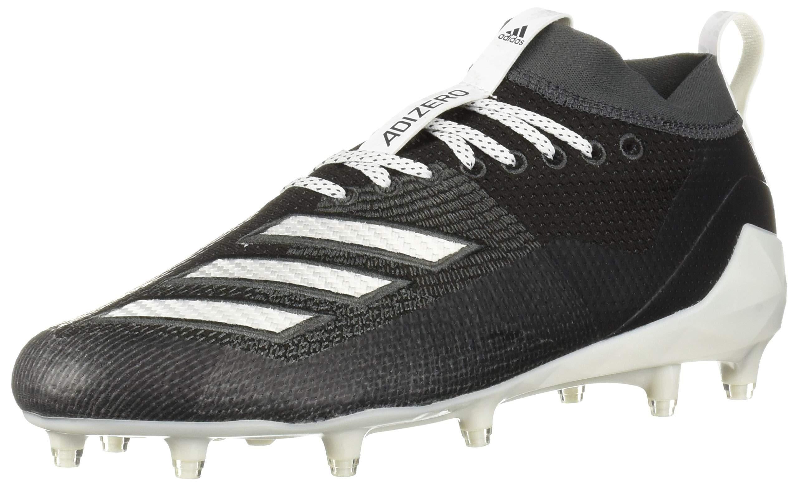 adidas Men's Adizero 8.0 Football Shoe Black/White/Grey 6.5 M US by adidas (Image #1)