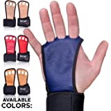 Gymnastics Grips - Crossfit Gloves - Workout Gloves with Wrist Wraps - Weight Lifting Gloves - Gym Gloves for Pull Up - Fitness Hand Grips - Calisthenics Equipment -Fits Men, Women, Girls, Boys