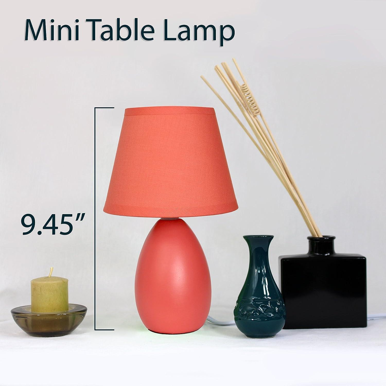 Gray Simple Designs LT2009-GRY Mini Egg Oval Ceramic Table Lamp