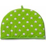 Homescapes Double Design Tea Cosy Stars Green Muff Teapot Warmer 100% Cotton