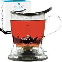 GROSCHE Aberdeen Easy Infuser Teapot and Smart Tea Maker BPA Free Drip Free Tea Pot