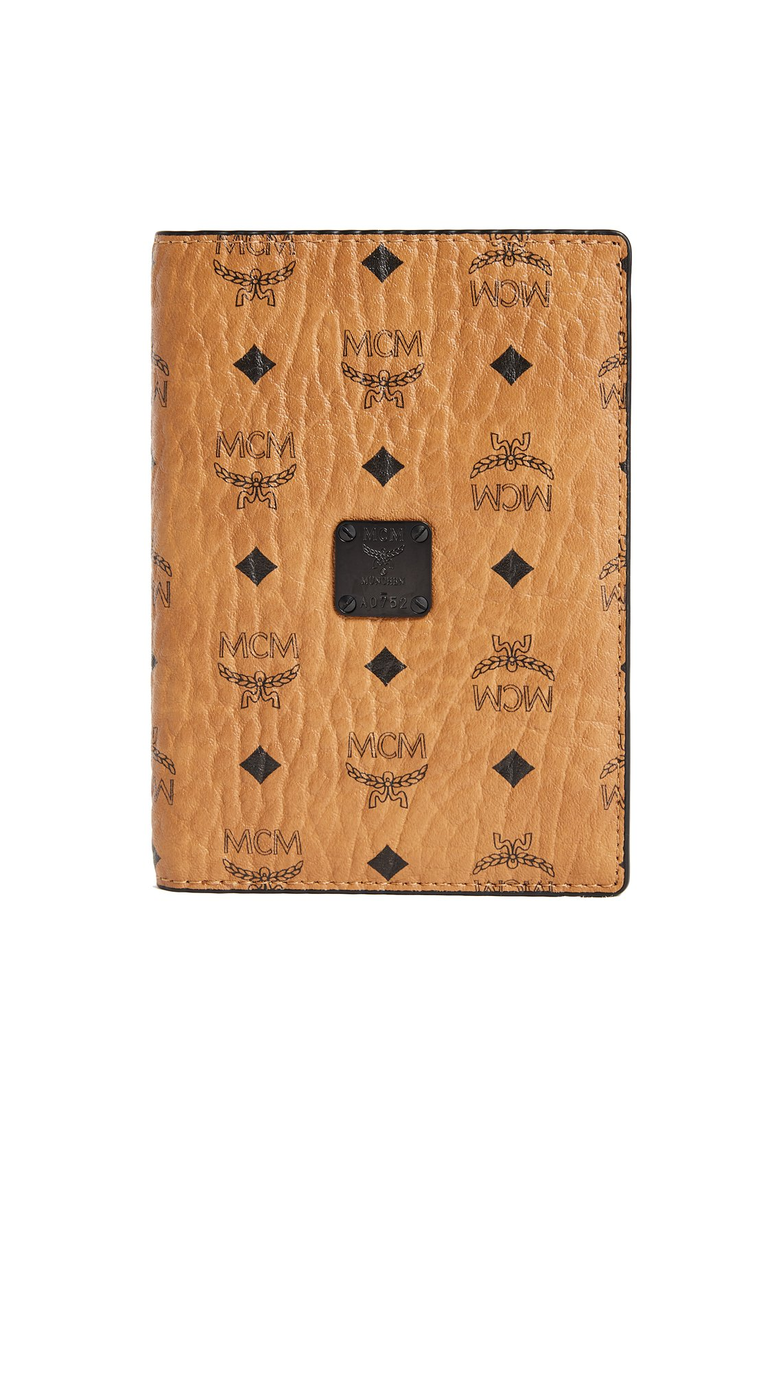 MCM Women's Nomad Passport Case, Cognac, One Size
