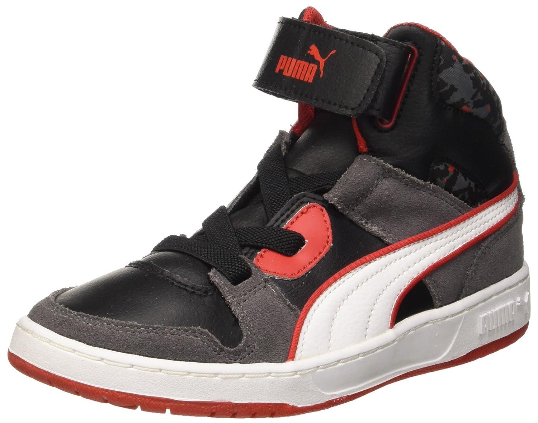 Puma Rebound Str Wcamo PS Sneaker, Unisex - Bambino, Verde (Burnt Olive/Forest Night/Bianco/Vermillion Arancione), 11.5