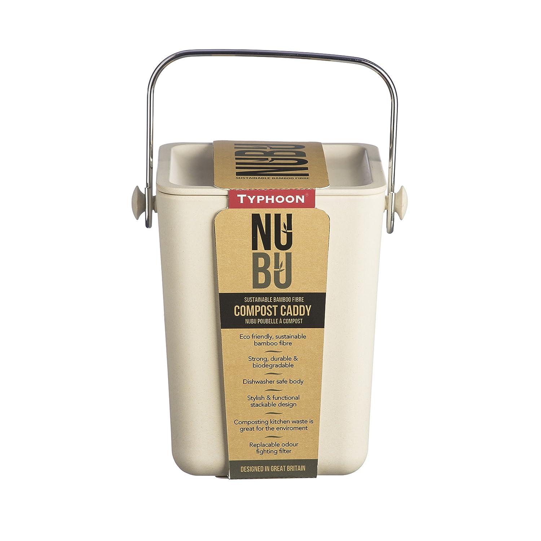 Amazon.com: Typhoon Nubu Compost Caddy, 118-1/8-Fluid Ounces, Cream ...