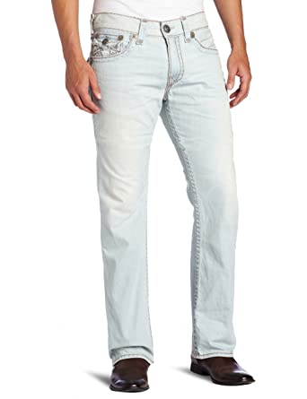24ee81fa Amazon.com: True Religion Men's Ricky Straight Leg Super T Jean in Fisher,  32: Clothing