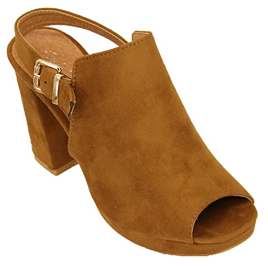 Womens Suede Look Mule Sandals LL1721