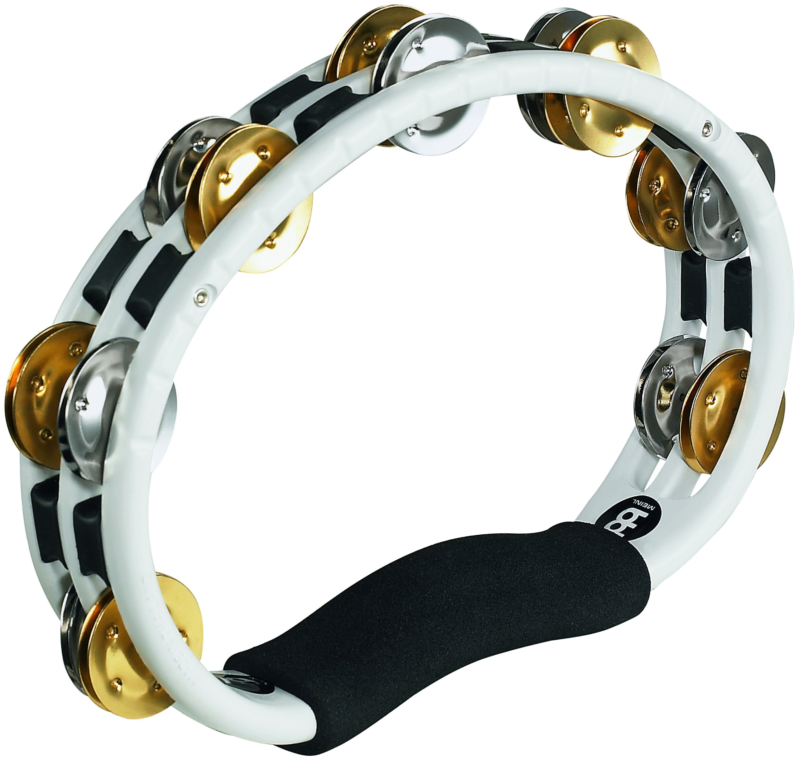 Meinl Percussion TMT1M-WH Dual Alloy Recording Combo Tambourine, White by Meinl Percussion