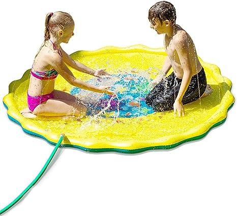 KAILUN Splash Pad, Aspersor de Juego, Jardín de Verano Juguete Acuático para Niños Pulverización para Actividades Familiares Aire Libre/Fiesta/Playa/ Jardín - PVC Respetuoso con el Medio Ambiente: Amazon.es: Deportes y aire libre