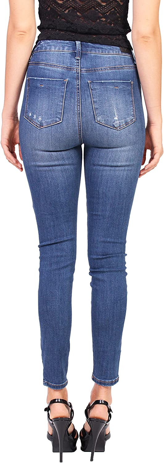 Celebrity Pink Jeans Women High Rise Skinny Jeans with Slit Knee