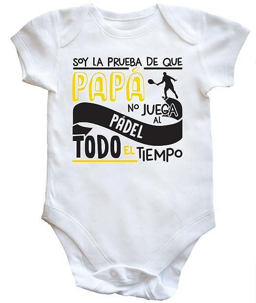 HippoWarehouse Soy La Prueba de Que Papá No Juega al Pádel Todo El Tiempo Body Bodys Pijama niños niñas Unisex