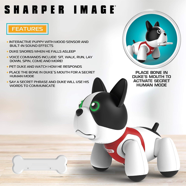 e9011e5b3ede Amazon.com  Sharper Image RC Toy Duke The Trainable Robotic Puppy Dog with  Smart Bone