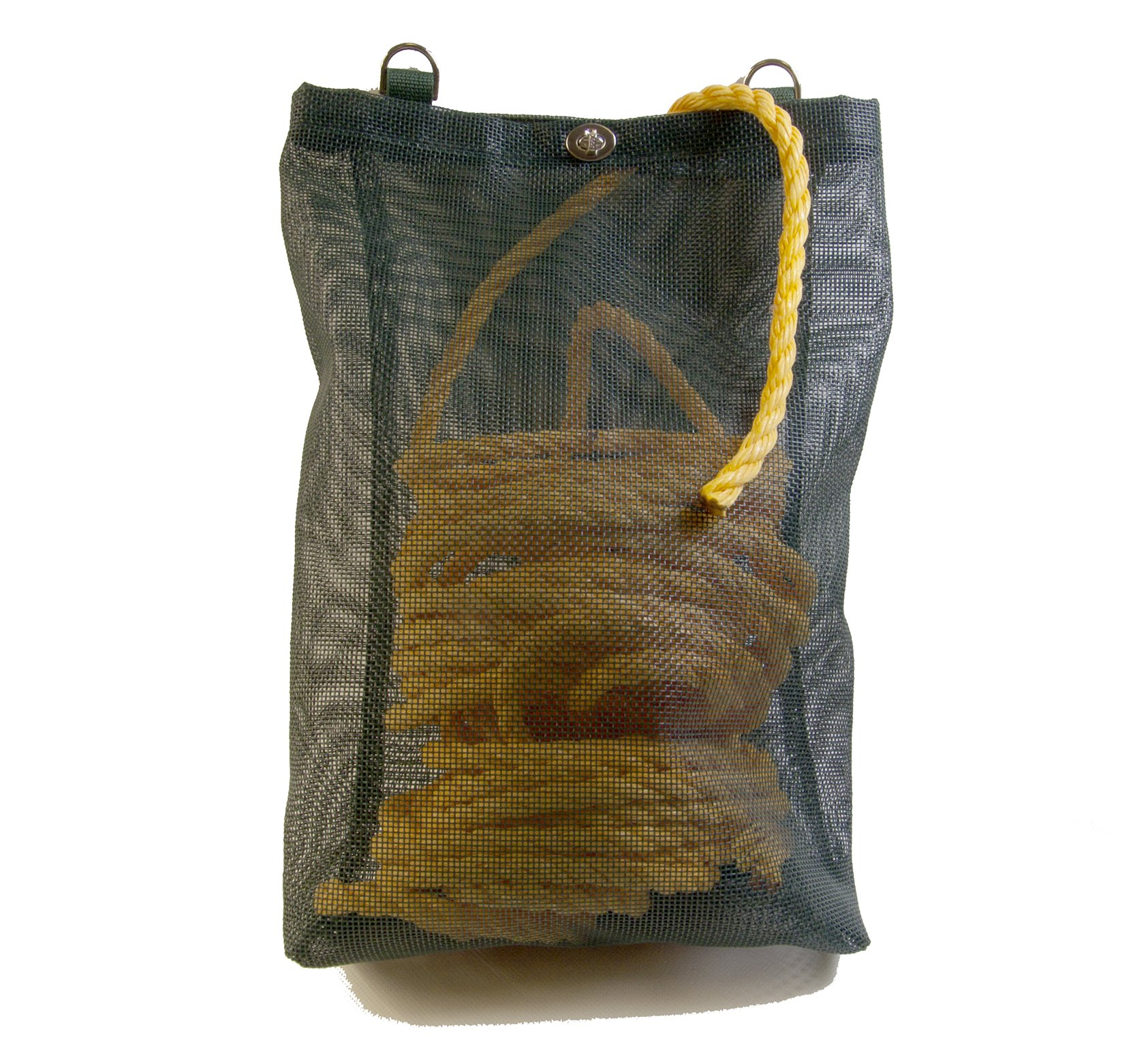 Rope Bag, Green Mesh, Heavy Duty, Great for Boats or Shore Lines