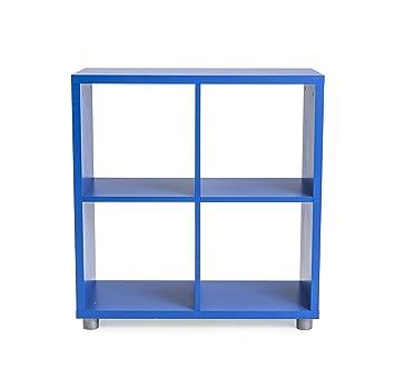TENZO 1824 - 003 Box Designer biombos 2 x 2 Madera, Azul, 35 x 73 x 77 cm: Amazon.es: Hogar