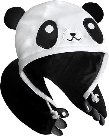 Panda Hooded Animal Plush Neck Pillow