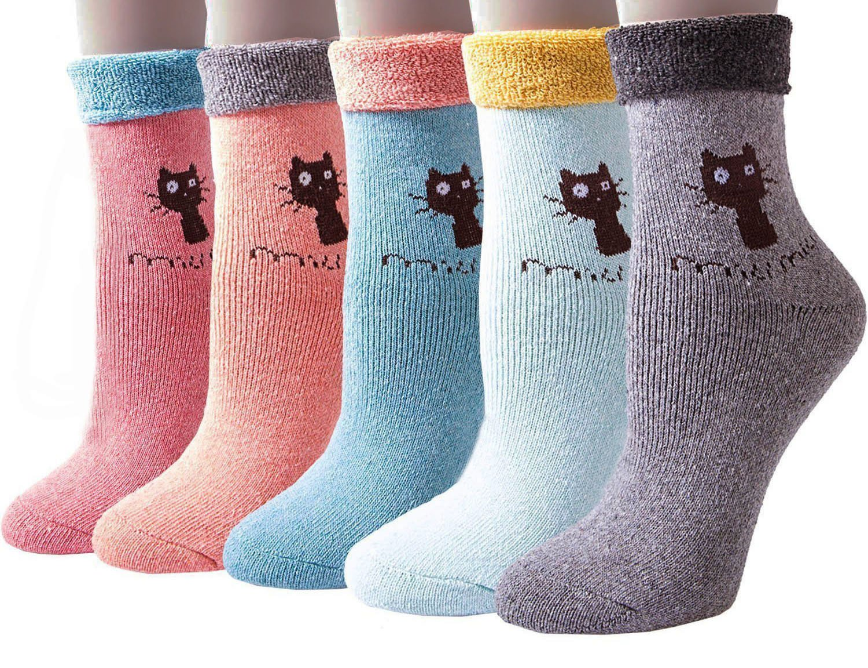Women Girls Warm Socks, TMVOK Thick Cotton Wool Casual Comfortable Crew Socks TMVOK Ltd