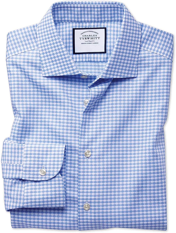 Charles Tyrwhitt Camisa Business Casual Azul Celeste sin Plancha ...