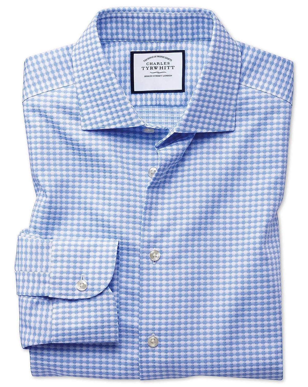 Camisa Business Casual Azul Celeste sin Plancha con Texturas ...