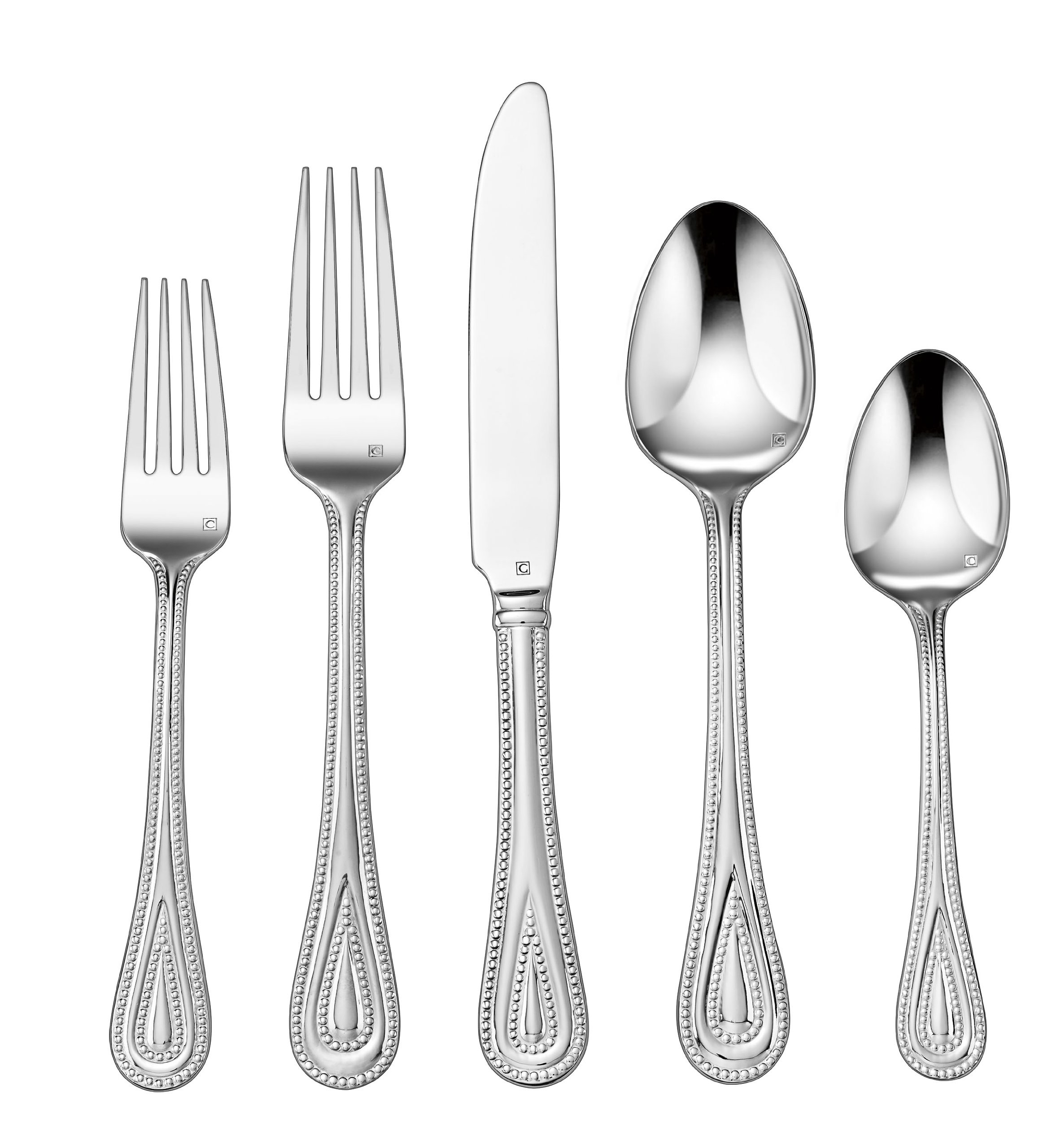 Cuisinart CFE-01-FP20 20-Piece Flatware Set, Fampoux - Each piece is handcrafted of the finest heavy-gauge stainless-steel Careful attention to detail from design through manufacturing to create a unique dining experience Large continental-sized pieces - kitchen-tabletop, kitchen-dining-room, flatware - 81TLpNsMjHL -