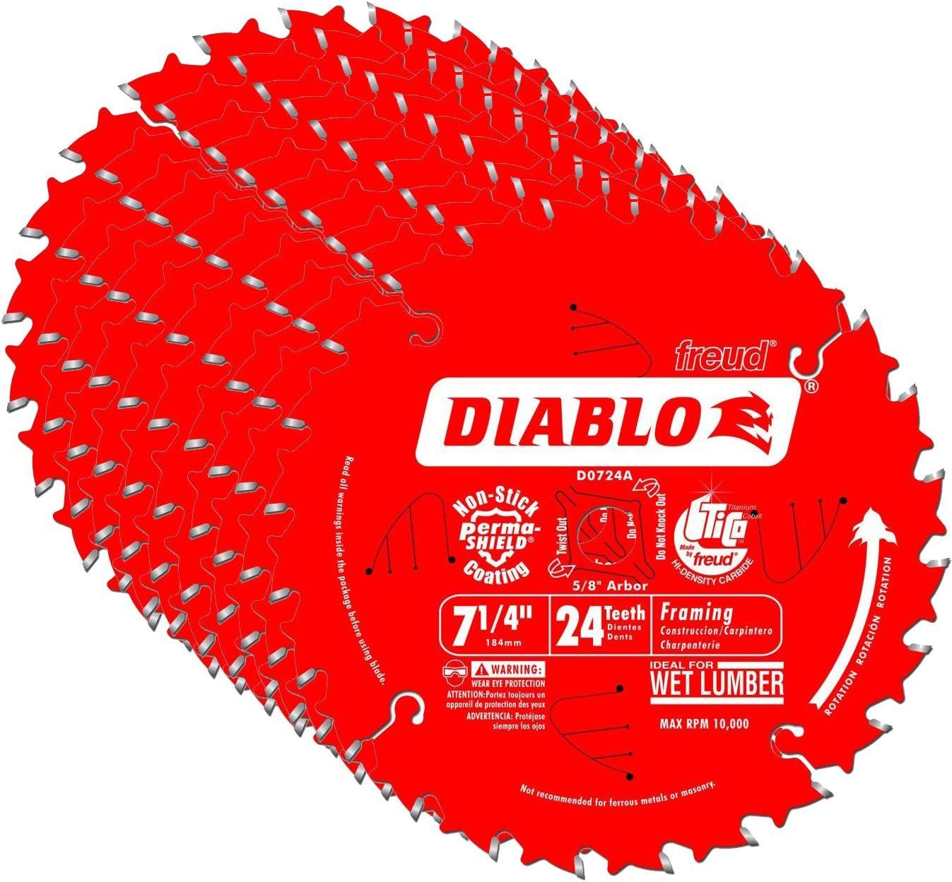 Diablo D0724A 7-1/4-Inch 24-Tooth Diablo Circular Saw Framing Blade