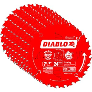 "Diablo D0724A 7-1/4"" 24T Diablo Circular Saw Framing Blade"