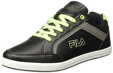 733ed2eccc1b Fila Men's Dustin Black/Lime/Grey Sneakers - 11 UK/India (45 EU ...
