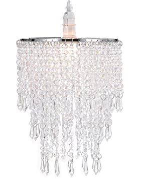 Waneway 3 tiers ceiling chandelier pendant light shade with waneway 3 tiers ceiling chandelier pendant light shade with acrylic jewel droplets beaded lampshade with aloadofball Images