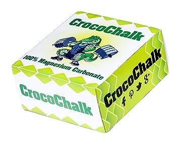 crocochalk – tiza bloque – Mano gimnasio tiza Blanco, empaquetado bloques para gimnasia, levantamiento